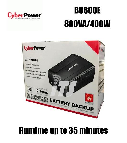 CyberPower BU800E 800VA/400W Backup UPS