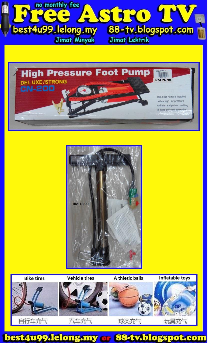 Cylinder Hand Air Pump Foot Pump Inflatable for Bike Motorcycle ball $