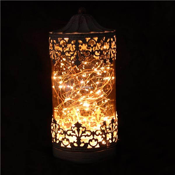 Cylinder Shaped Rattan LED Night Light USB Lamp