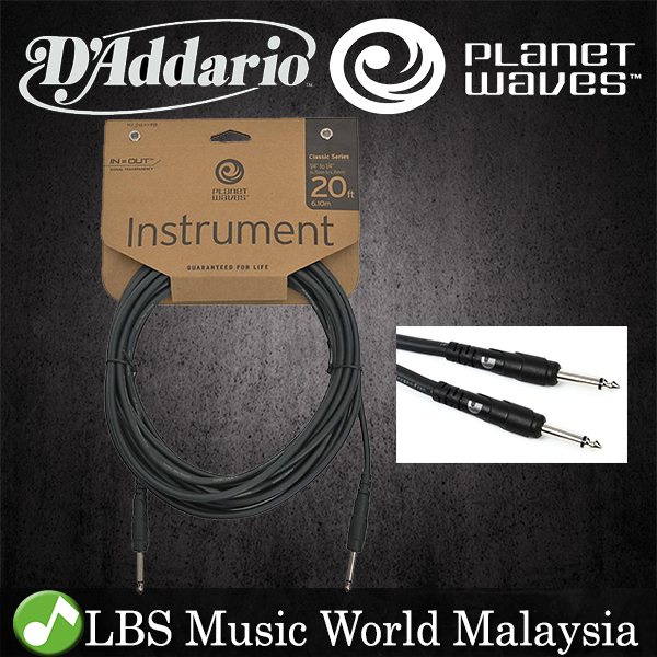 D'addario PW-CGT20 Planet Wave Instrument Cable Guitar Keyboard Daddar
