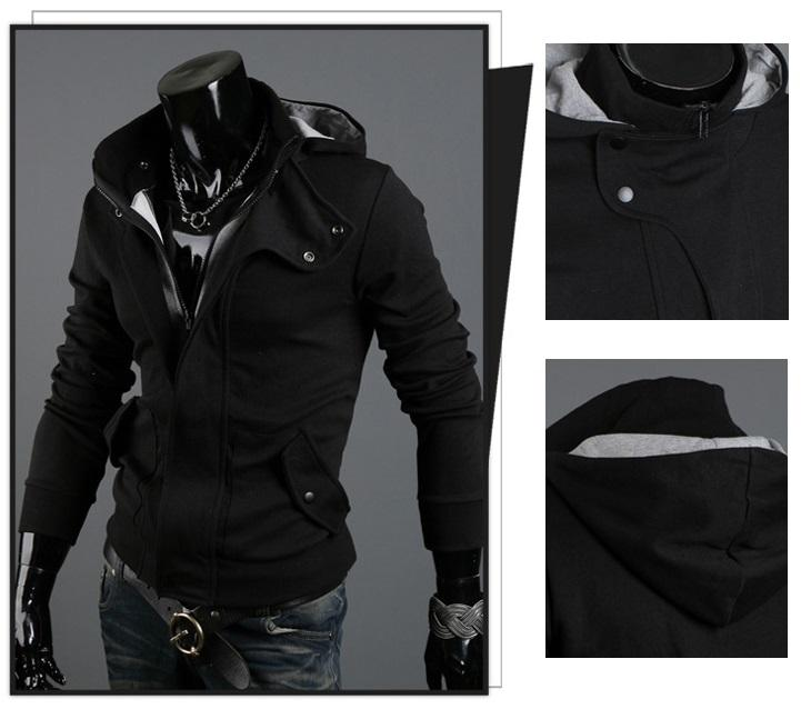 NEW!!! D.HOMME KOREAN STYLISH LAYERED HOODED JACKET