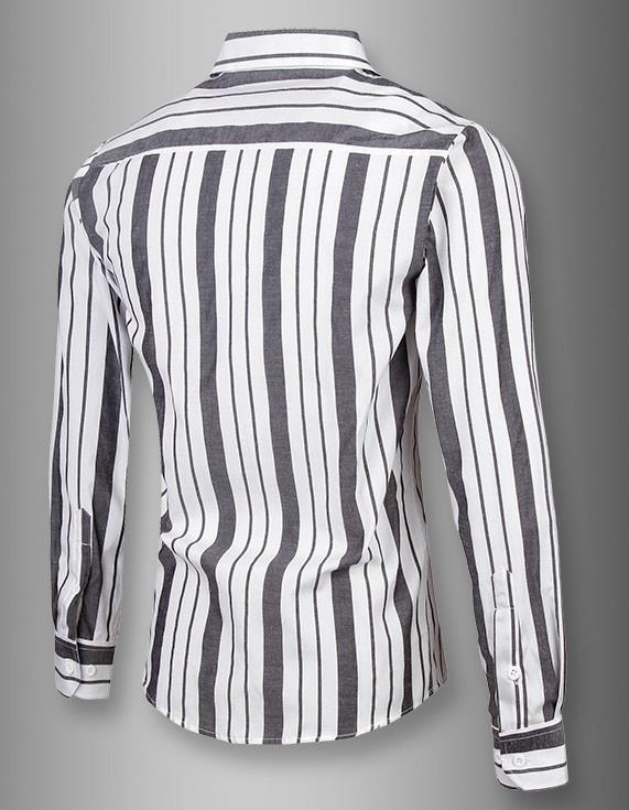 NEW!!! D.HOMME KOREAN STYLISH MULTI-LINED COLORS STRIPE SHIRT