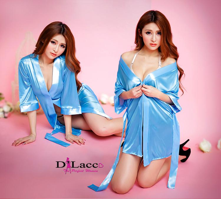 Sexy silk robe