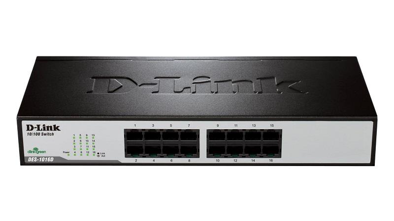 D-Link 16-Port Fast Ethernet Unmanaged Desktop Switch (DES-1016D)