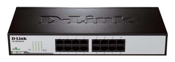 D-LINK 16-PORT STANDARD NETWORK SWITCH, DES-1016D