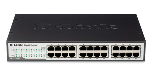D-LINK 24-PORT GIGABIT NETWORK SWITCH, DGS-1024D