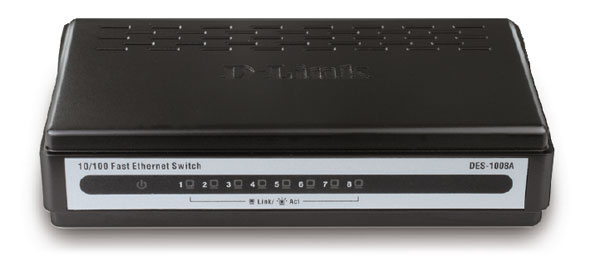 <B>D-Link 8-Port 10/100Mbps Desktop Switch</B>