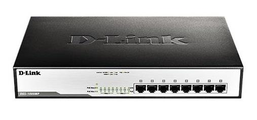 D-Link 8-Port Desktop Gigabit Max PoE Switch (DGS-1008MP)