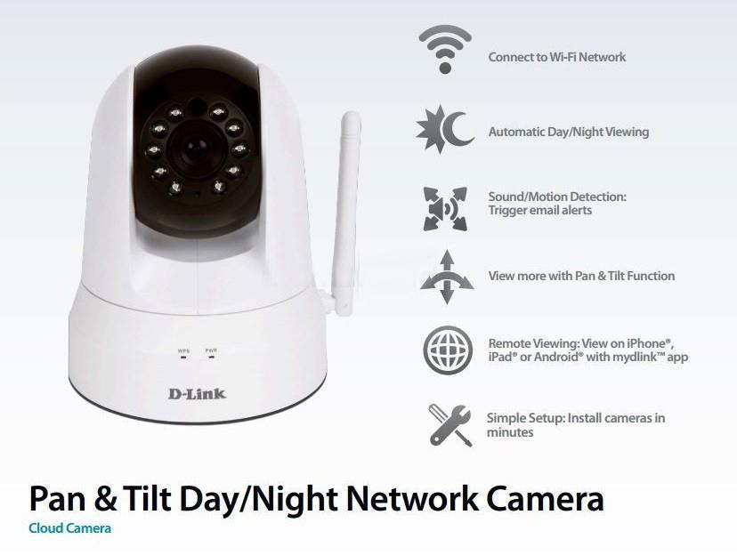 D-Link DCS-5020L Cloud Wireless IP Camera CCTV + WiFi Extender
