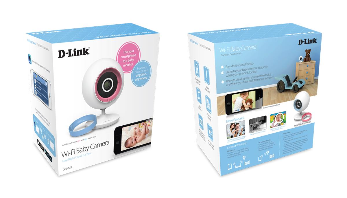 D-Link DCS-700L Day & Night Wireless WiFi Cloud Baby Camera Monitor Jr