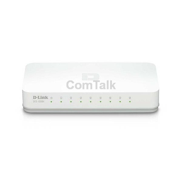 D-Link DES-1008A 8-Port 10/100Mbps Unmanaged Switch