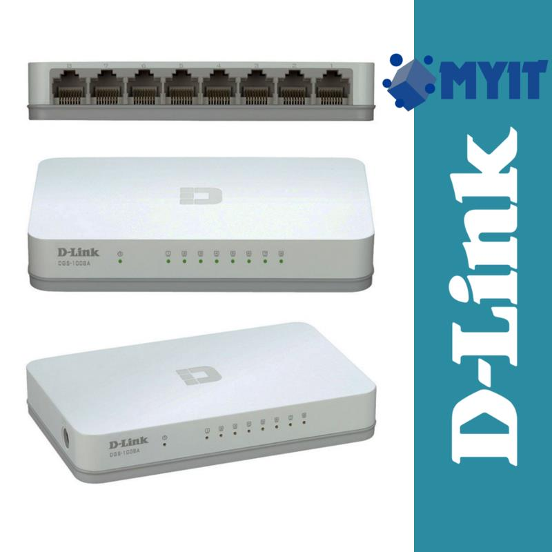 D-Link DES-1008A Ethernet Desktop Switch 10/100Mbps 8 Ports