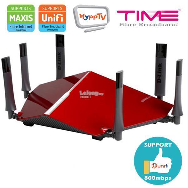 D-LINK Router Gigabit WiFi N600 TRI BAND CLOUD AC3200 (DIR-890L) RED