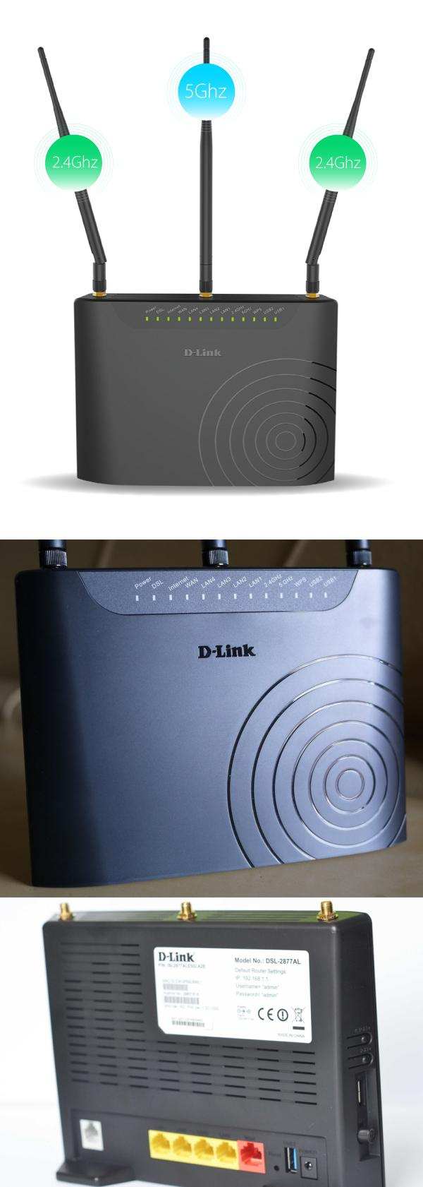D-LINK VDSL2/ADSL Streamyx Dual Band Modem Router DSL-2877AL/9TH