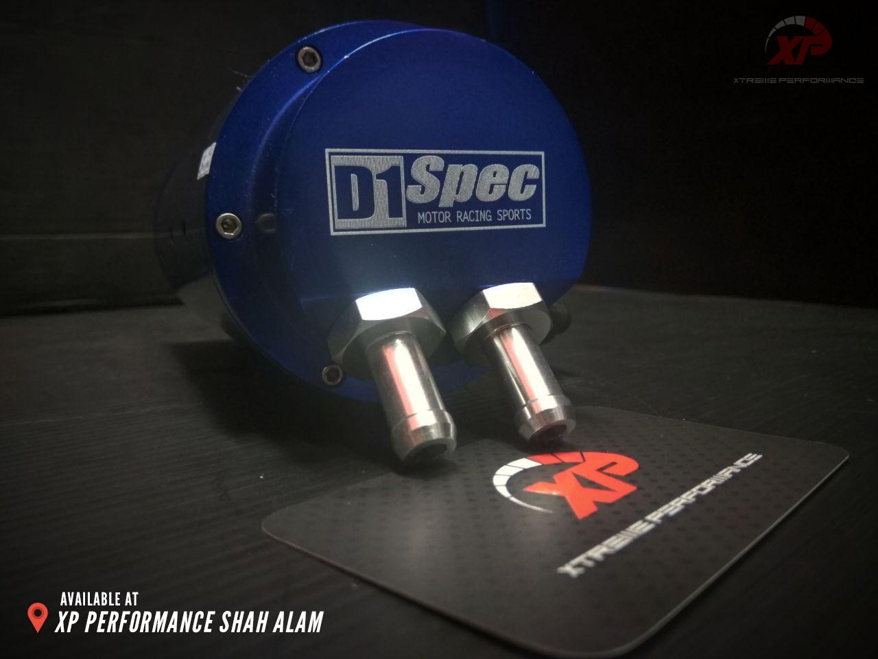 D1 SPEC 0.7L 10mm Round Blue Billet Aluminum Engine Oil Catch Tank