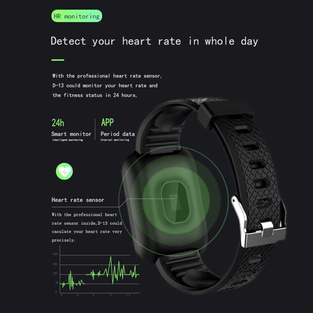 D13 Smart Watch Heart Rate Blood Pressure Monitor Fitness Tracker