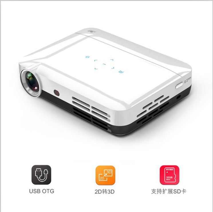 D600 Full HD 1080P HDMI 400 Lumens 3D DLP Projector Home Theater