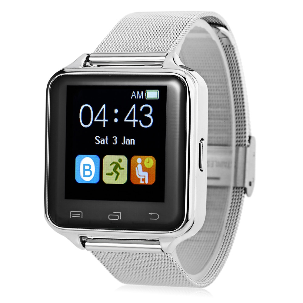 D80 SMART WATCH WITH ANTI LOST PEDOMETER AND SLEEP MONITOR (SILVER)
