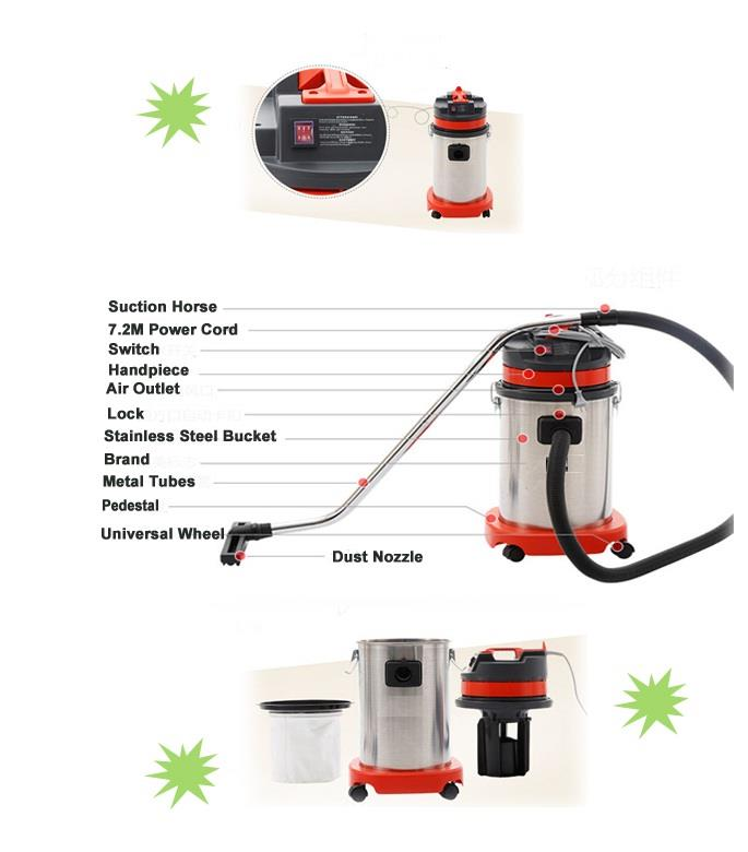 Dacho 1200W 30L Industrial Wet & Dry Vacuum Cleaner