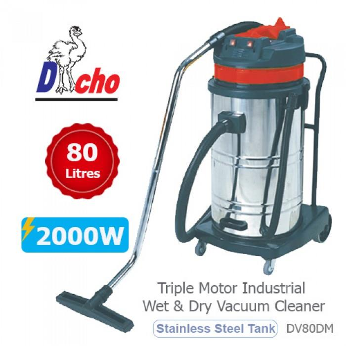 Dacho 2000W 80L Industrial Wet & Dry Vacuum Cleaner