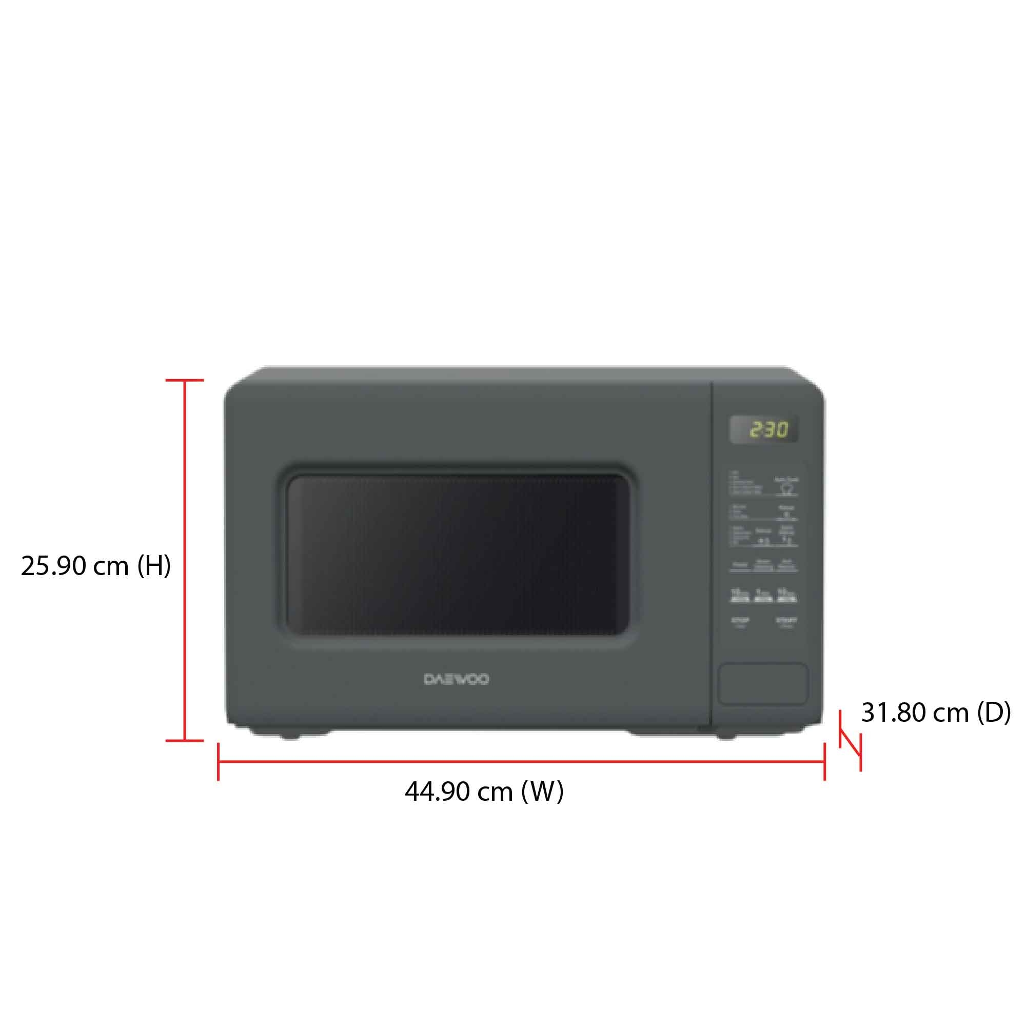 Daewoo Microwave Oven KOR-20DG (20L) (end 9/19/2020 3:20 PM)