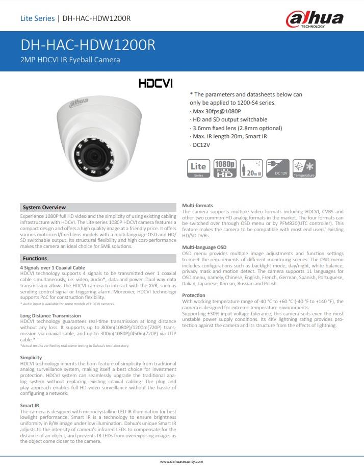 DaHua 16CH 1080p Full HD CCTV Set Package W/O HDD