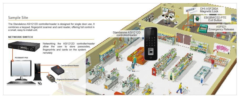 Dahua ASI1212D Waterproof Fingerprint Standalone Access Controller