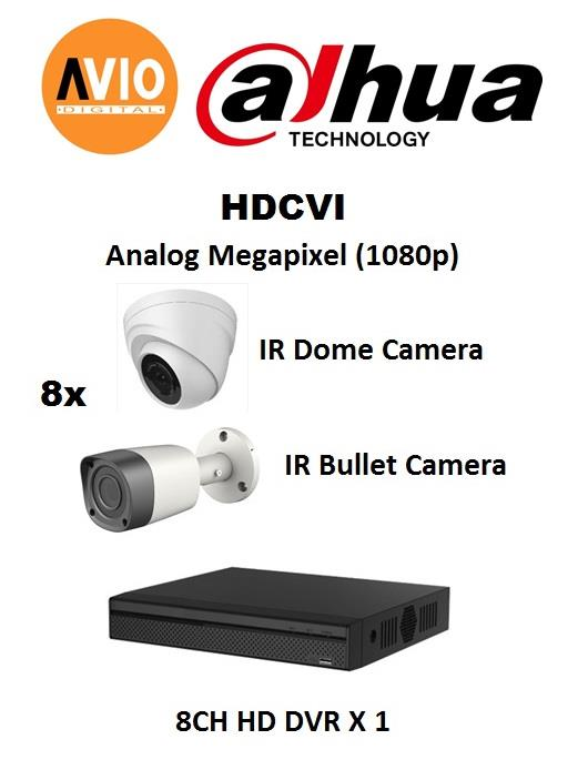 Dahua AVIO 1080P C2MP B 2 MP MegaPixel CCTV 8 ch channel Full
