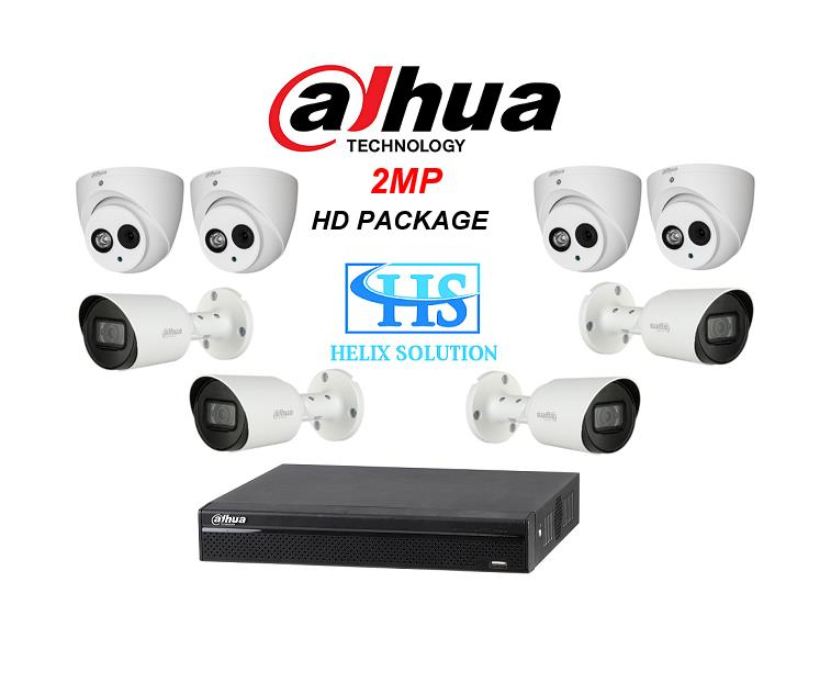 DAHUA COMBO D6 HDCVI STARLIGHT 2MP 8CH HD PACKAGE