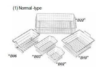 DAIHAN-brand® Square-type Wire Baskets