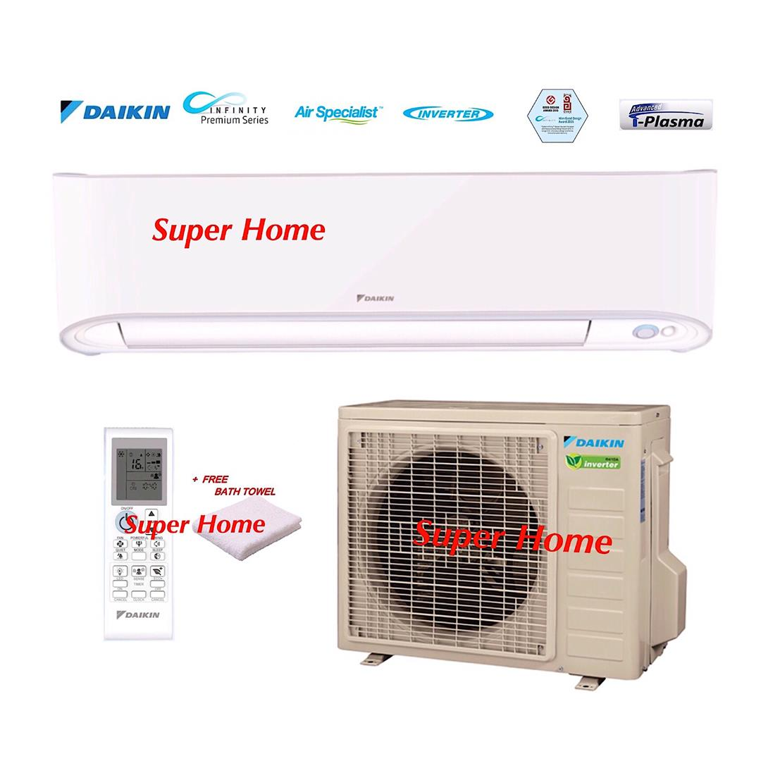 Daikin 1.5hp Premium Inverter FTK15T & RK15F Air conditioner + Towel