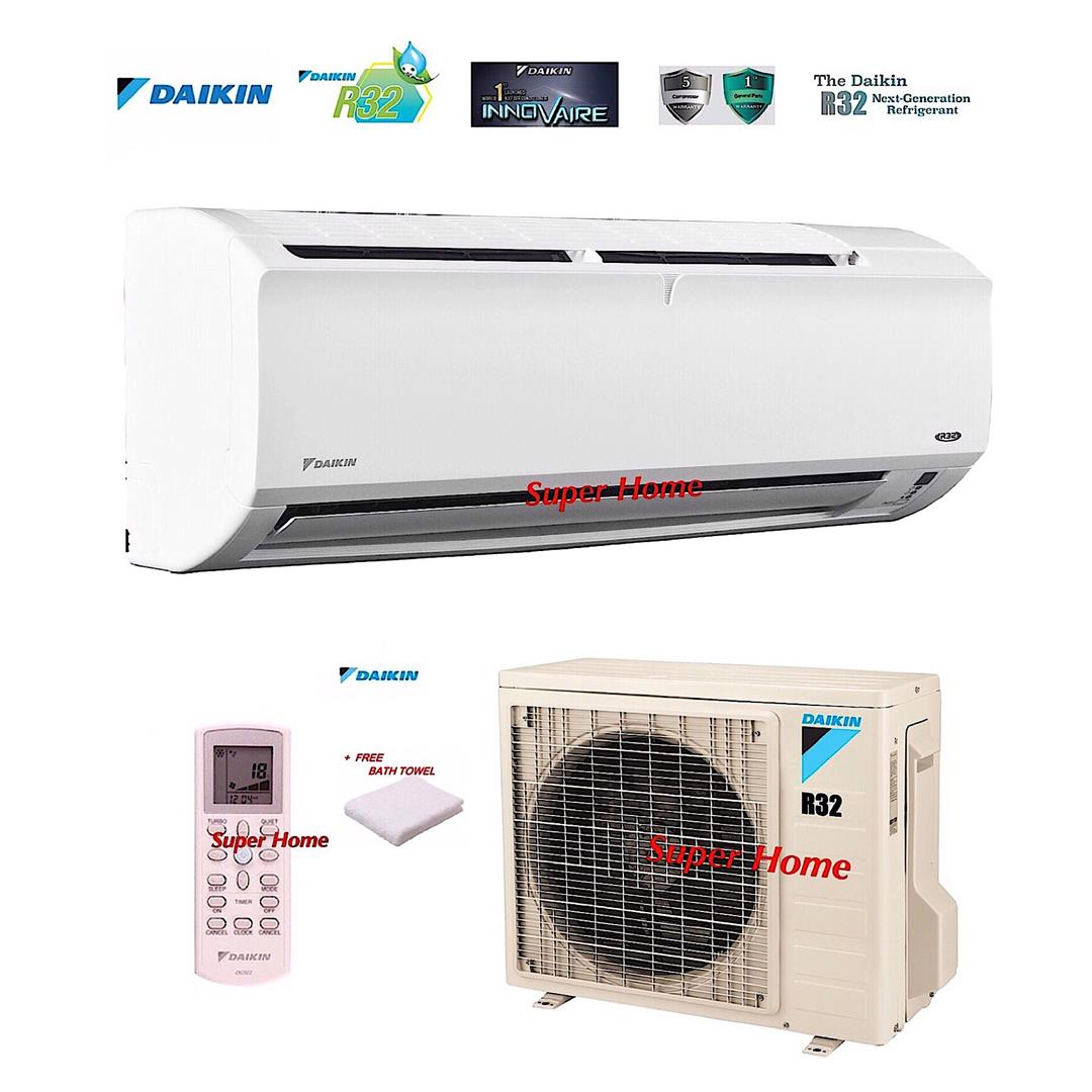 Daikin R32 Air Specialist FTV35P & RV35F 1.5hp Air Conditioner + Towel