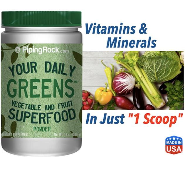 Your Daily Greens Superfood Powder 340g (Healthy immune, Digestive)