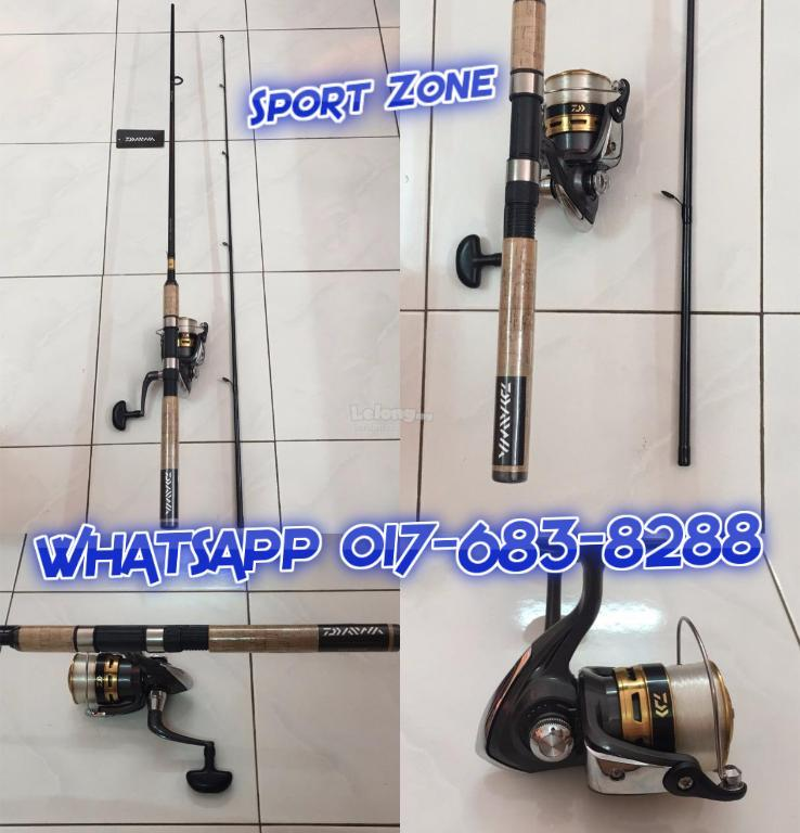 NEW - DAIWA Fishing Rod + Reel + Line [ Combo Full Set ]