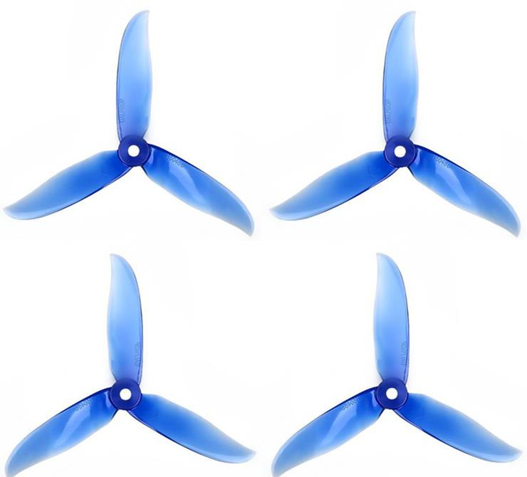 Dalprop 2 Pairs Cyclone T5050C 3-blade Propeller (Crystal Blue)