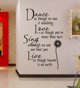 Wall Sticker Quotes And Saying Decals Wallpaper Home Deco Part 39
