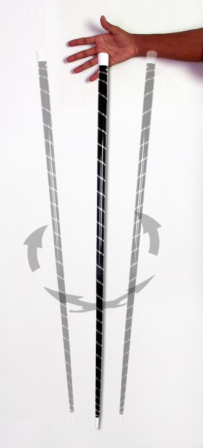 Dancing cane Black with white strip