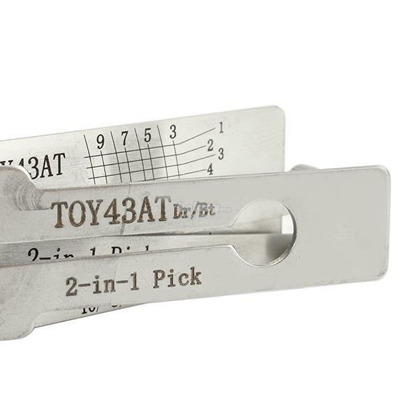 DANIU TOY43AT 2 in 1 Car Door Lock Pick Decoder Unlock Tools Locksmith