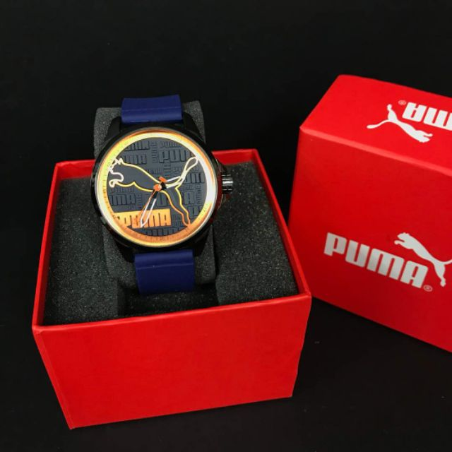 Dark blue puma sports analogue function