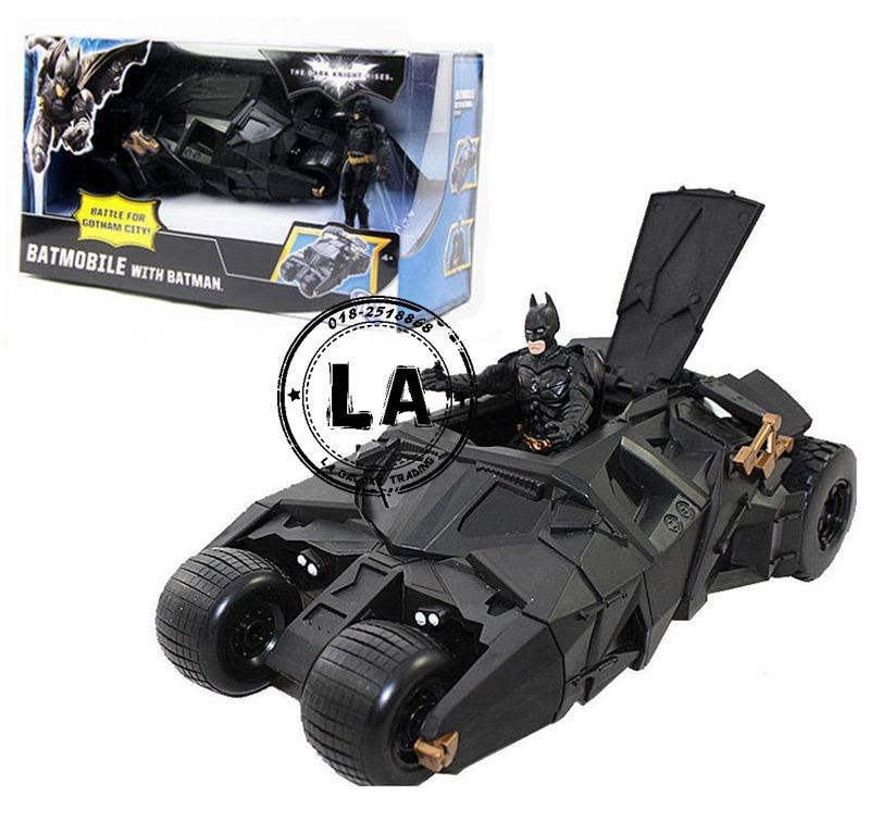 The Dark Knight Rises Batmobile Vehicle with Batman Action Figure Toy