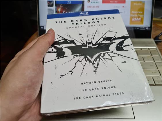 THE DARK KNIGHT TRILOGY SPECIAL ED 6 DISC BLU RAY IMPORTED ORIGINAL