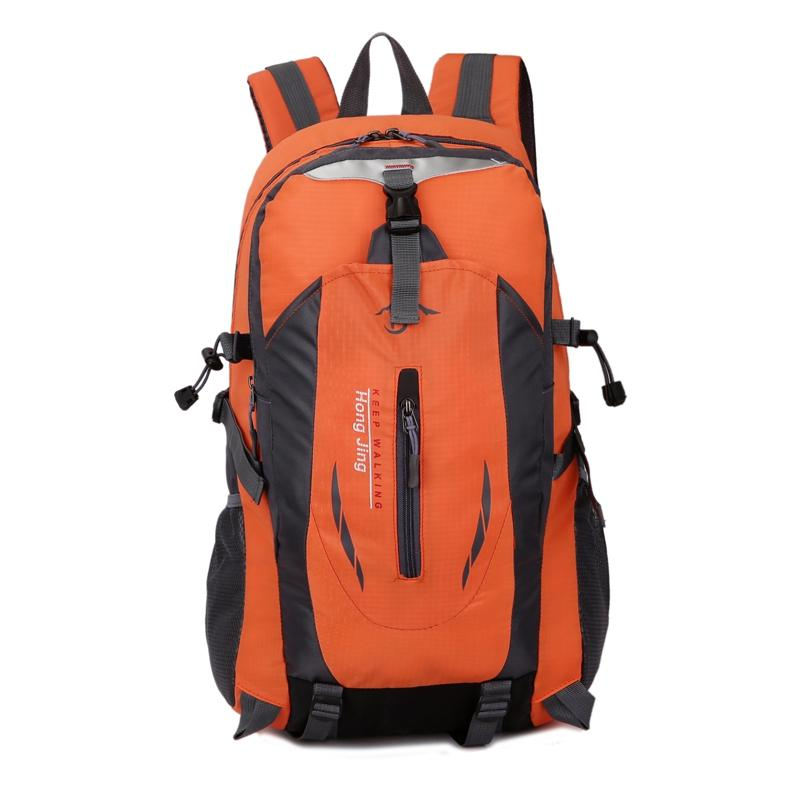DARK ORANGE Casual Waterproof Simple Backpack