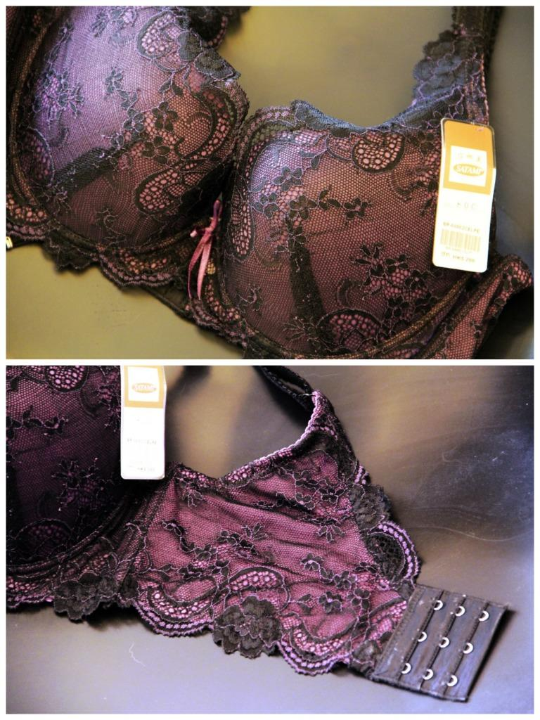 Dark Purple Lace Push Up Bra Satami Taiwan Hong Kong 36C