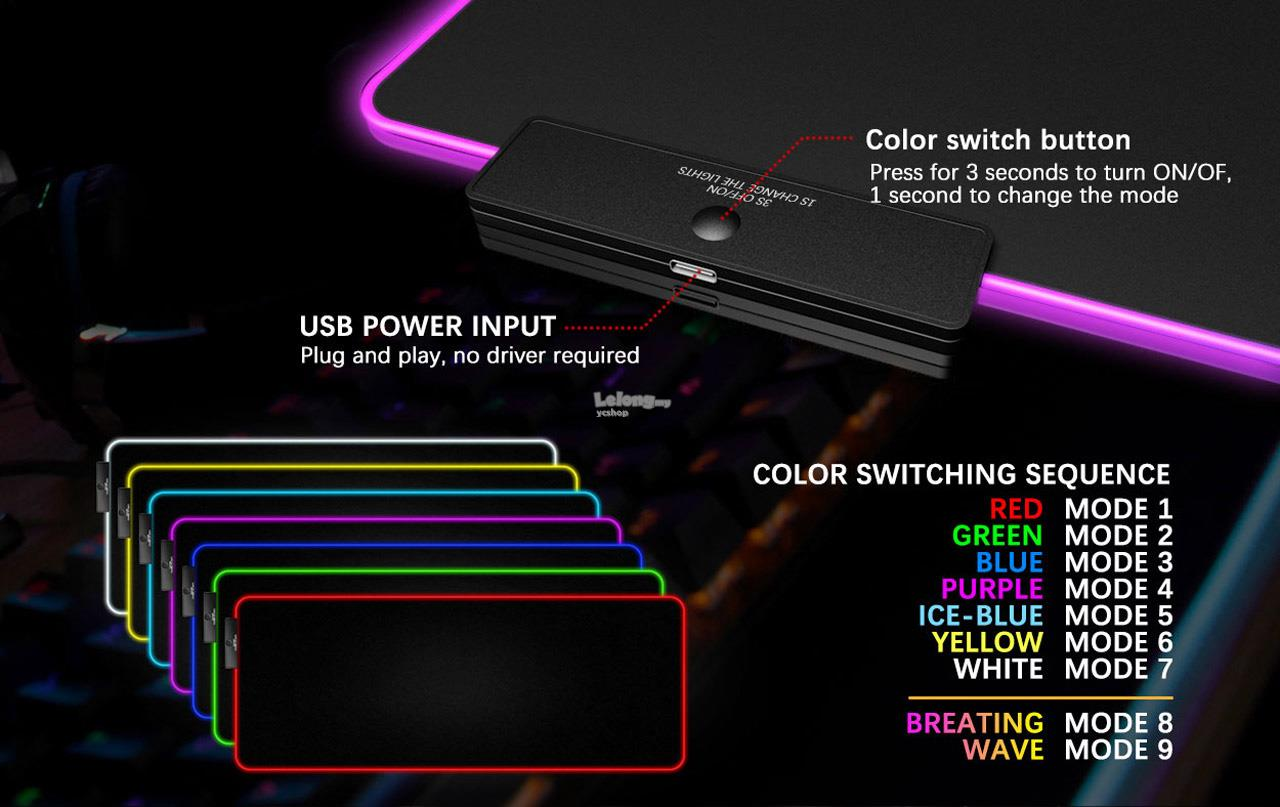 DarkFlash FLEX800 Extended RGB Gaming Mouse Pad