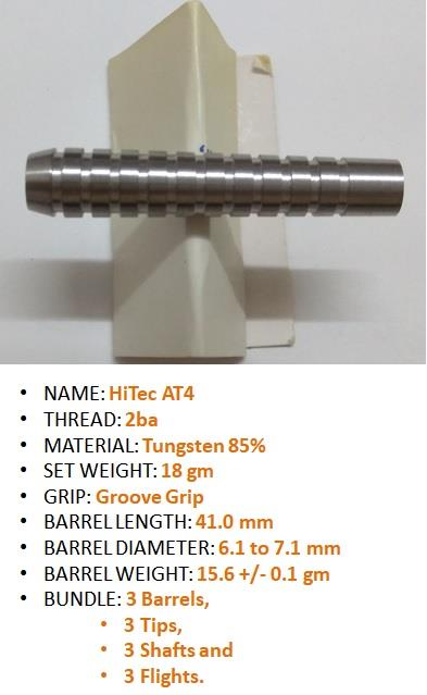 Dart 18g; Soft Tip darts; AT4; 2ba