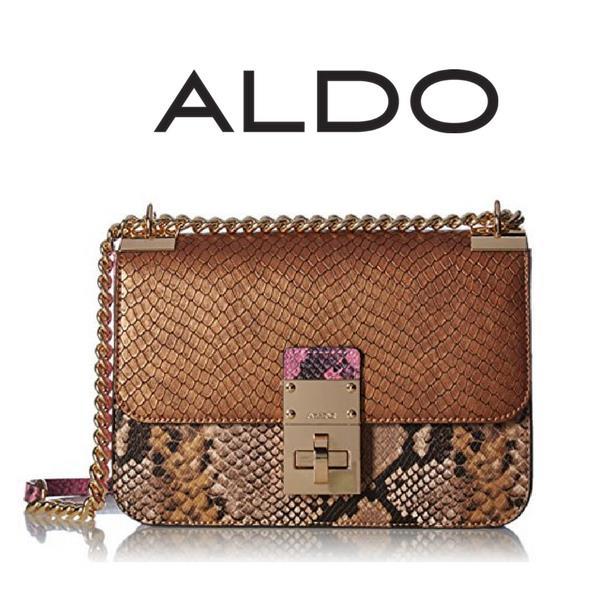 af390c494 (DAS AL039) Authentic Aldo Snake Embossed Crossbody Bag. ‹ ›