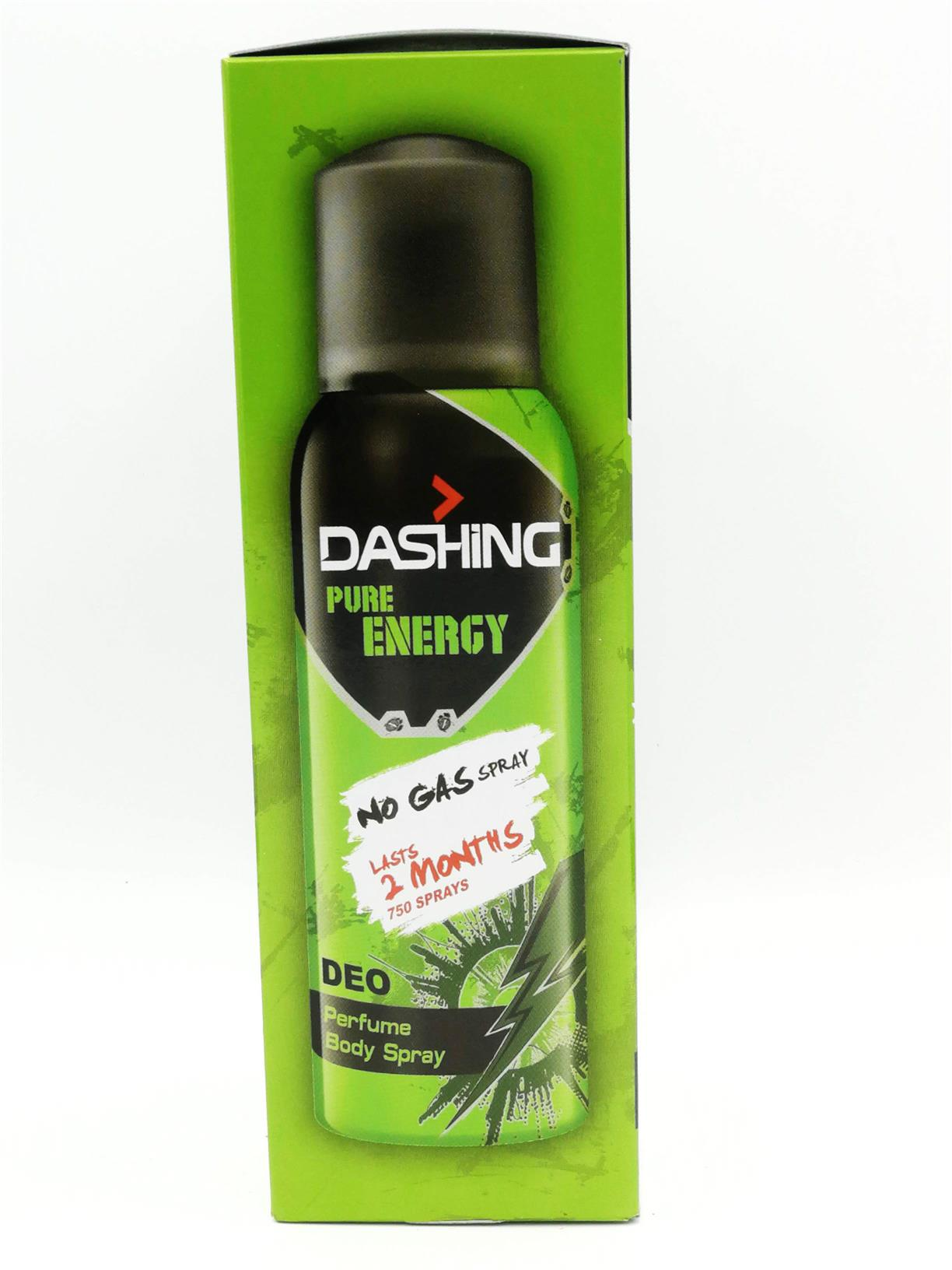 Dashing No Gas Pure Energy Deodorant Spray