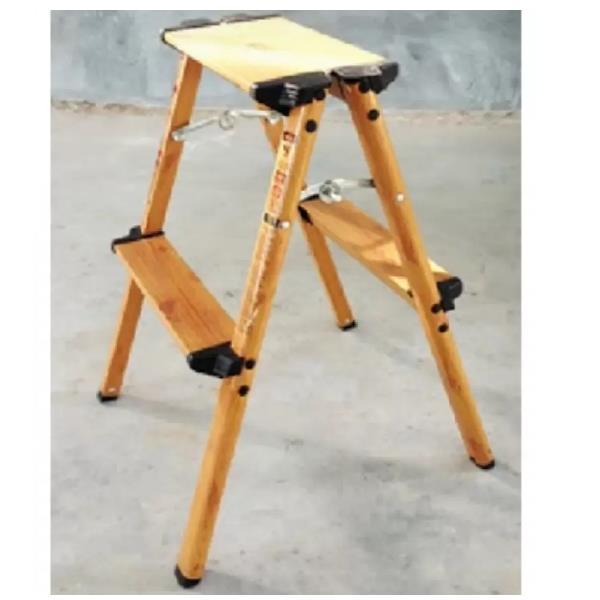Dat Aw 2 Wood Grain Aluminium Step Ladder