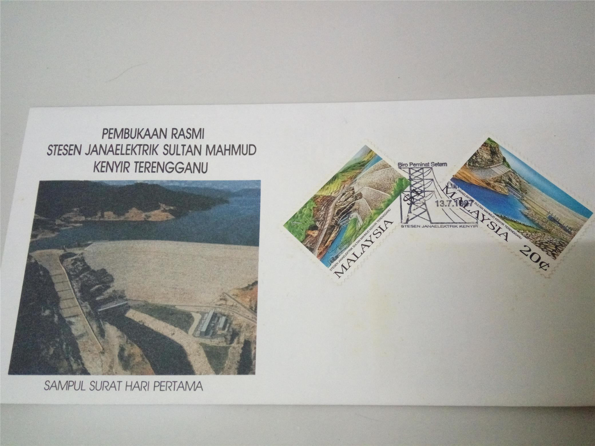 First Day Cover - Kenyir Dam