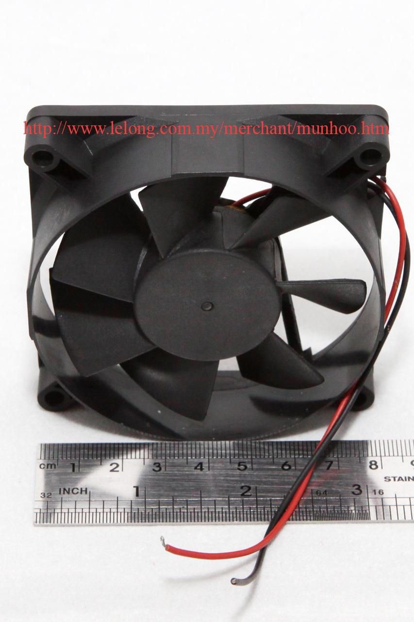 Used DC 12V 80mm 8cm Power Supply Computer Case Cooler Fan